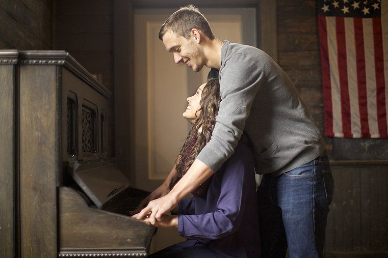 Our piano engagement picture at Dallas Heritage Village by Rachel Verdugo Photography