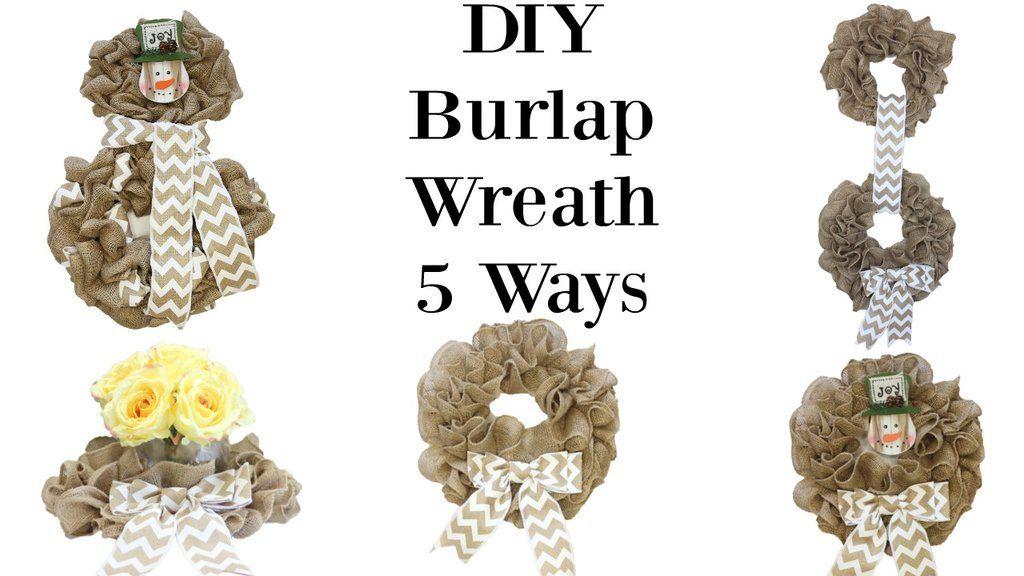 Photo of 5 DIY burlap wreaths