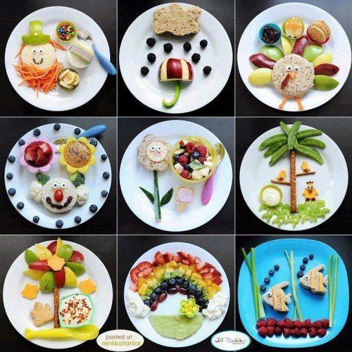 Presentaciones originales en comida sana para niños