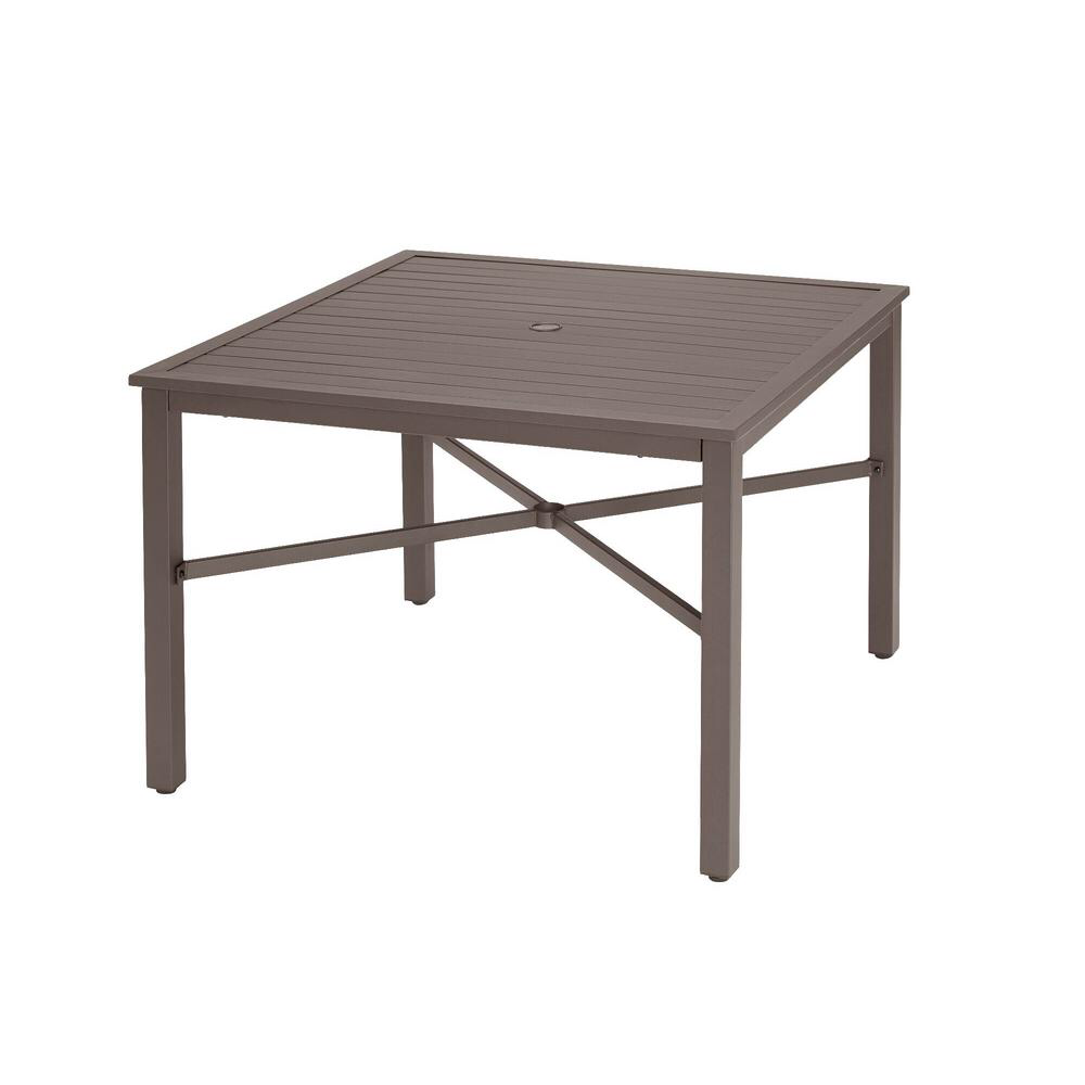Hampton Bay 42 In Mix And Match Brown Square Steel Outdoor Patio
