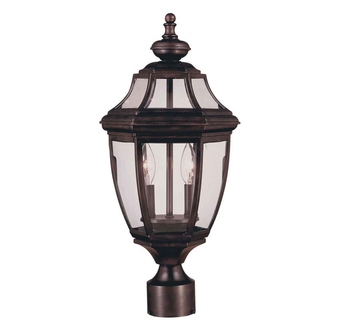 Endorado 2 Light Post Lantern With Images Outdoor Post Lights Lantern Post Outdoor Hanging Lanterns