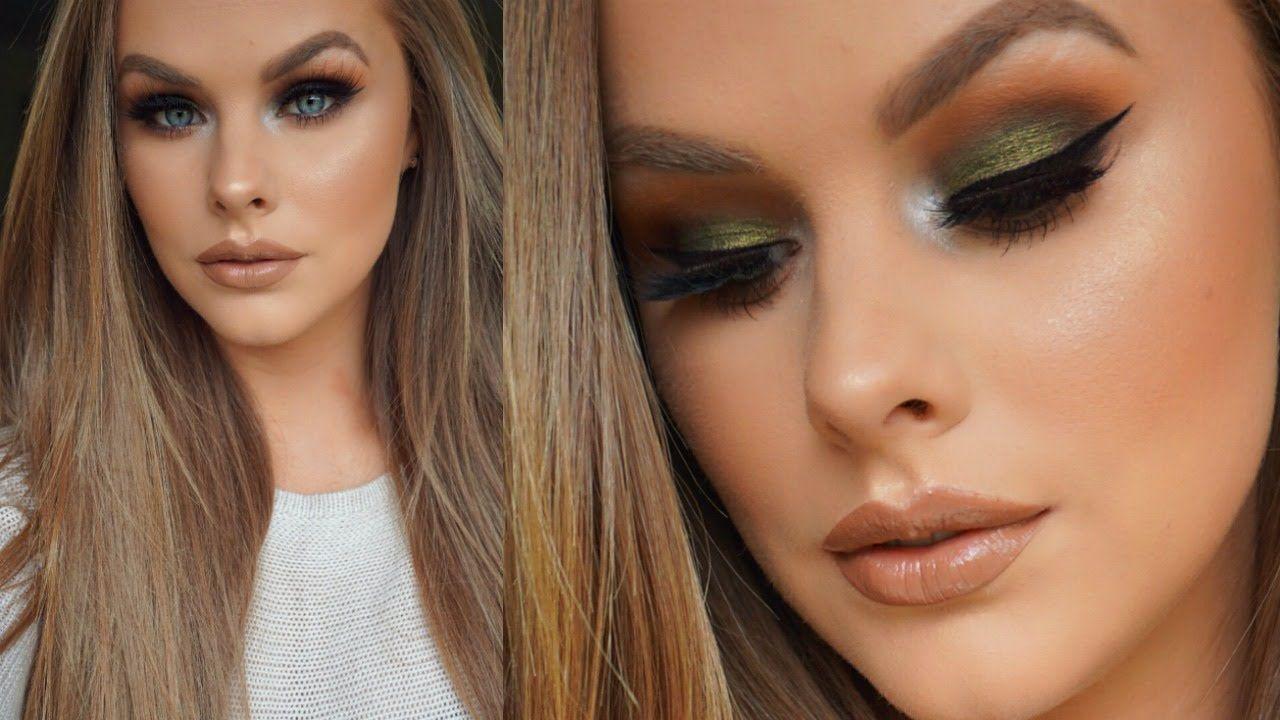 Olive Green Eyeshadow Tutorial Green Eyeshadow Green Eyeshadow Look Eyeshadow Tutorial