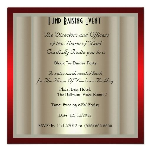 Formal black tie dinner party invitation dinner party invitations formal black tie dinner party invitation stopboris Image collections