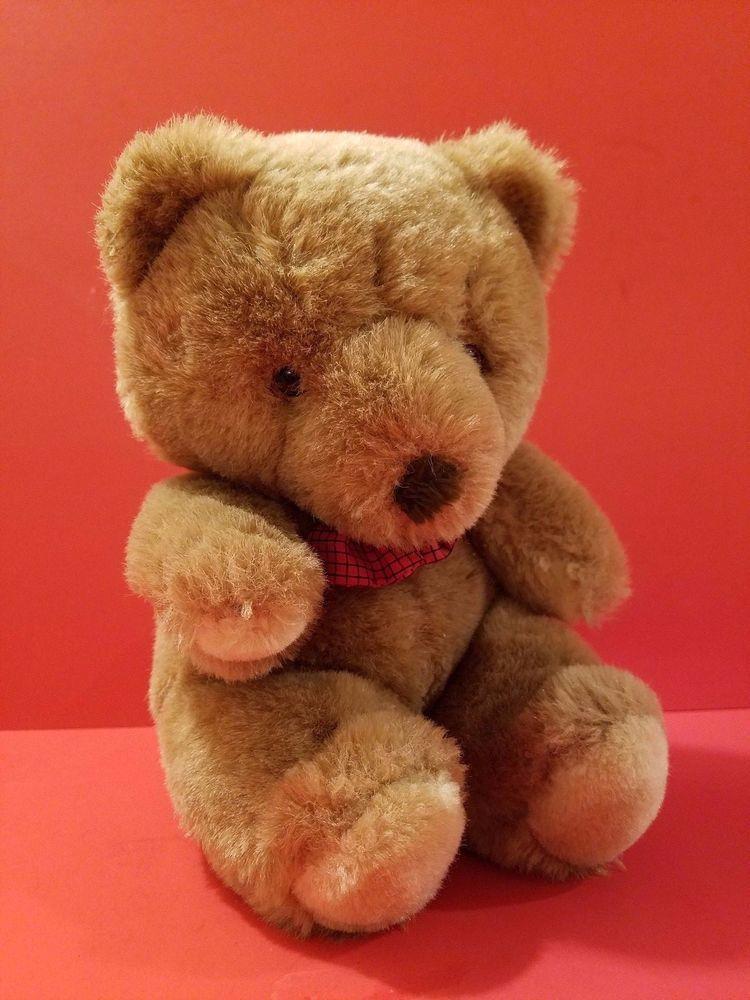 "9/"" Orange Plush Teddy Bear Stuffed Animal Toy Gift New"