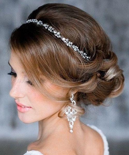 Chignon Wedding Hairstyles Low Bun Wedding Hairstyles Chignon With Headband Headband Hairstyles Wedding Hair Accessories Simple Wedding Hairstyles