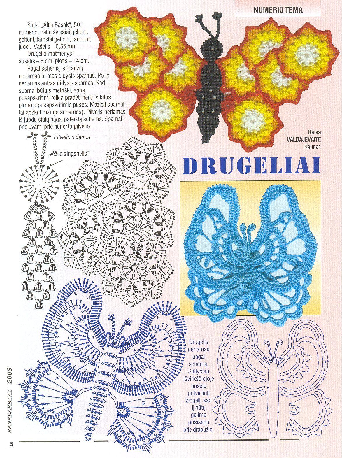 mariposa ganchillo patron - Buscar con Google | Crochet | Pinterest ...