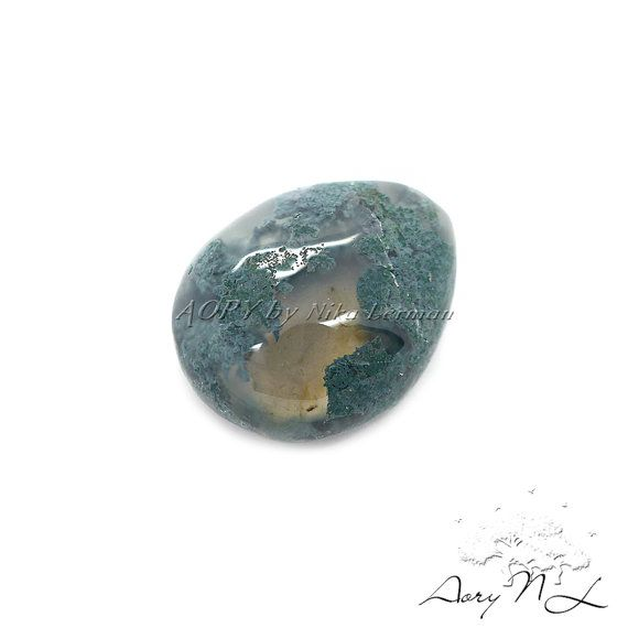 22.90Cts. Natural Moss Agate Gemstone Cabochon Size by AoryNL