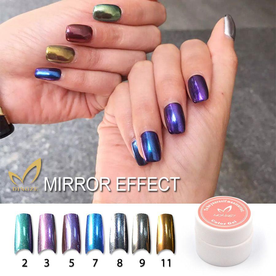 Charming Women Mirror Powder Metallic Silver Pigment Nail Glitter Art Gold Chrome Magic Look