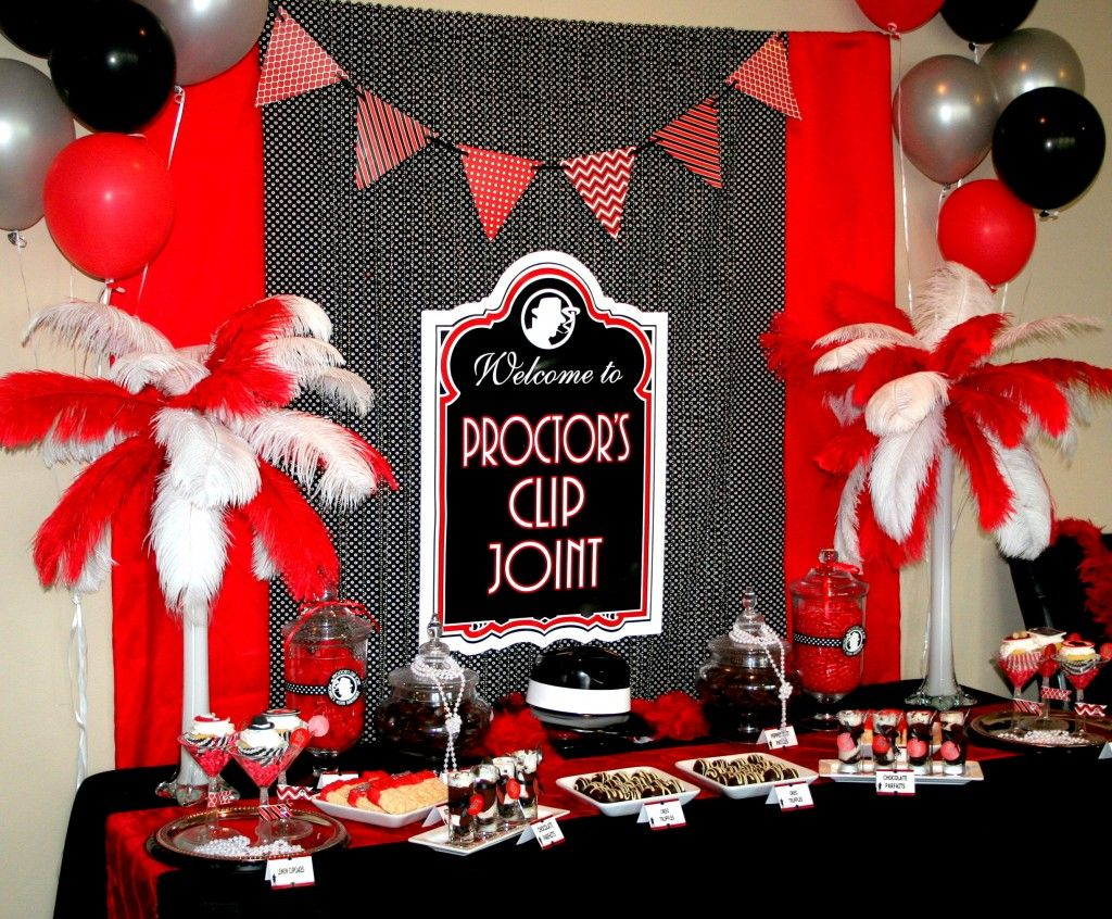 Art deco backdrop for photos wall decor party decoration 1920 s - Gangster Party Theme Parties For Husband Lights Camera Action Planning A Wedding 1920s Party Decorationstable