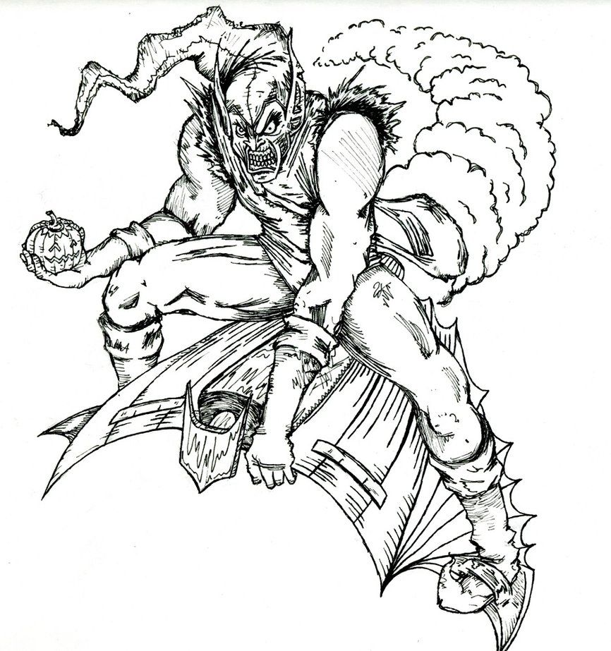 green goblin face coloring pages - photo#33