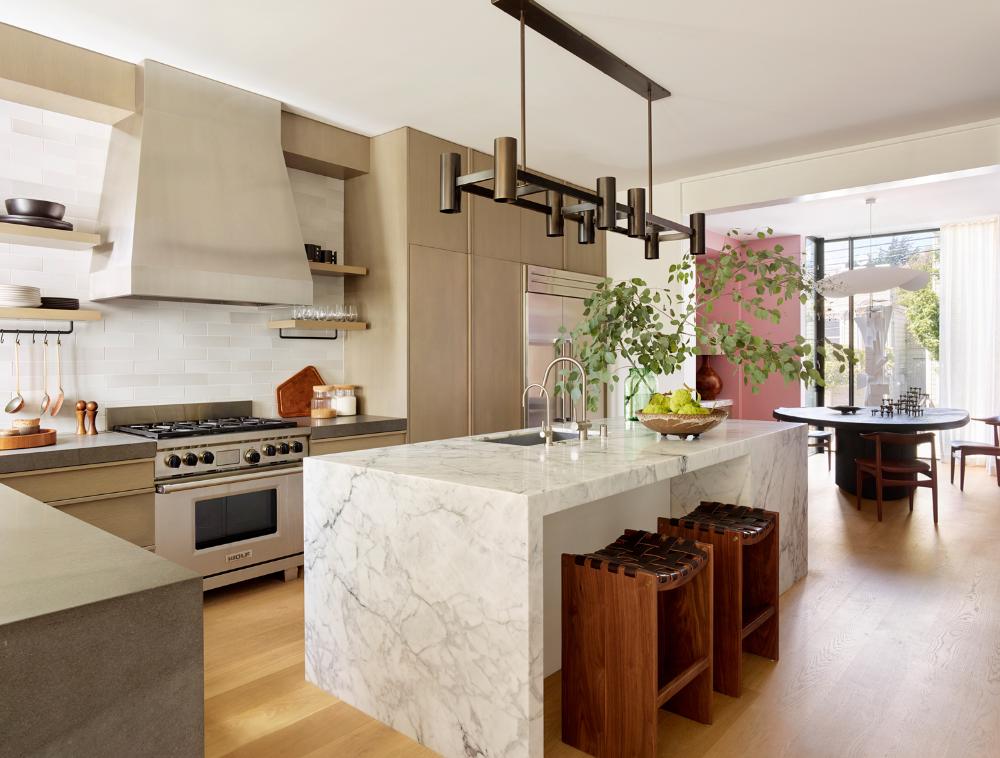 Gal San Francisco Townhouse Jamie Bush Co Kitchen Remodel Cost Marble Kitchen Island Kitchen Remodel