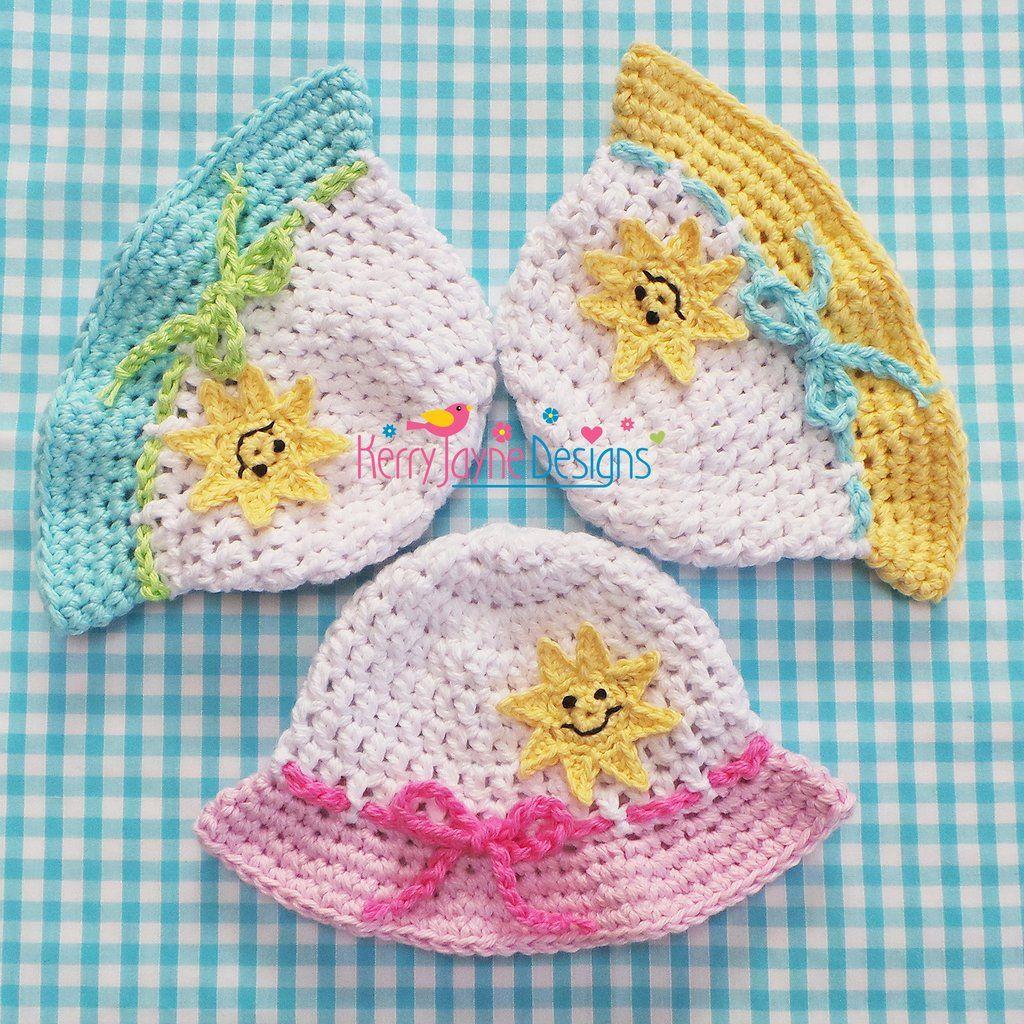 Happy Sun Hat Crochet Pattern | Gorros crochet y Gorros