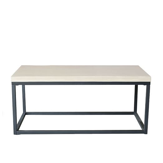 Slab Box Frame Outdoor Coffee Table Rectangle With Images