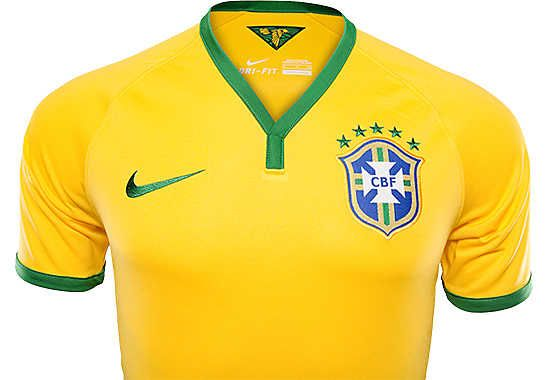 a323aa7ab Nike Authentic Brazil Home Jersey 2014...Available at SoccerPro now ...