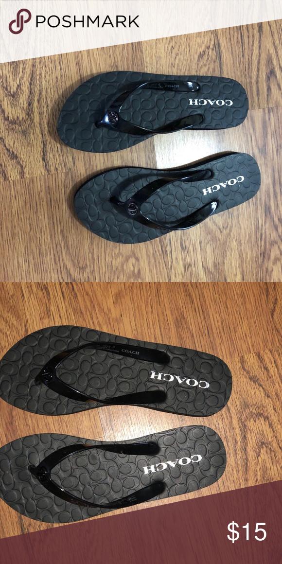 72db0d4aaa45 ... greece coach flip flop new abbigail rubber flip flop sandal coach shoes  sandals c2428 8a5da