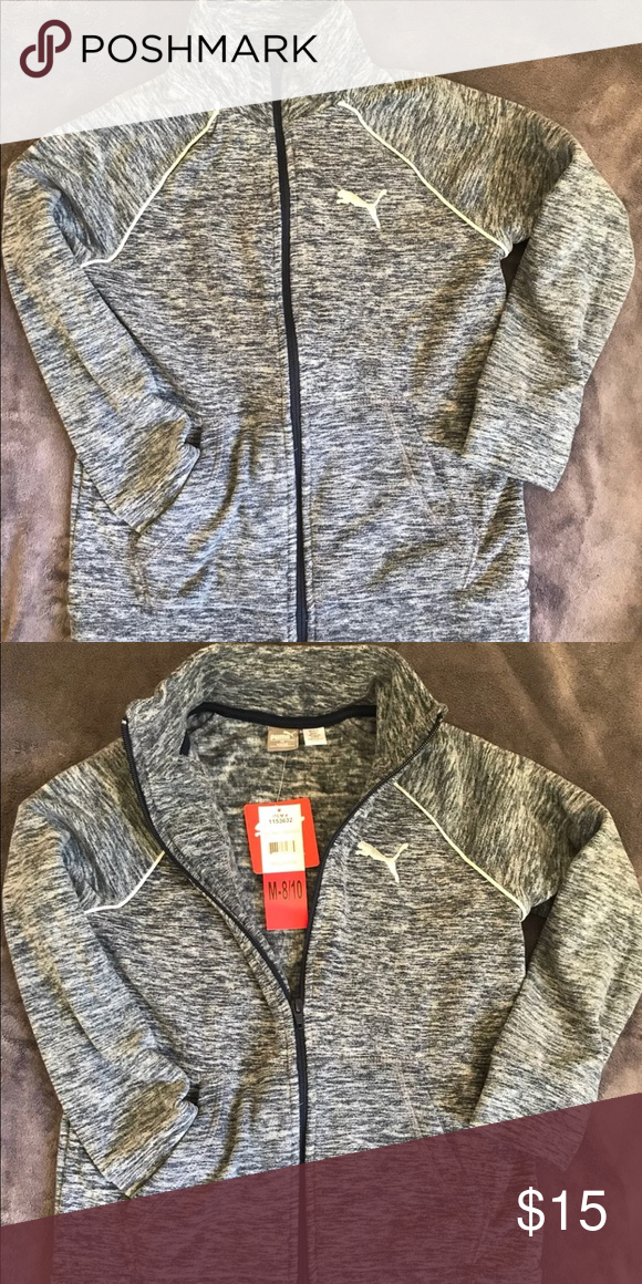 7f6325d72917 Girl Fleece Full Zip Sweater Puma Fleece Sweater Size M 8-10 Puma Jackets    Coats