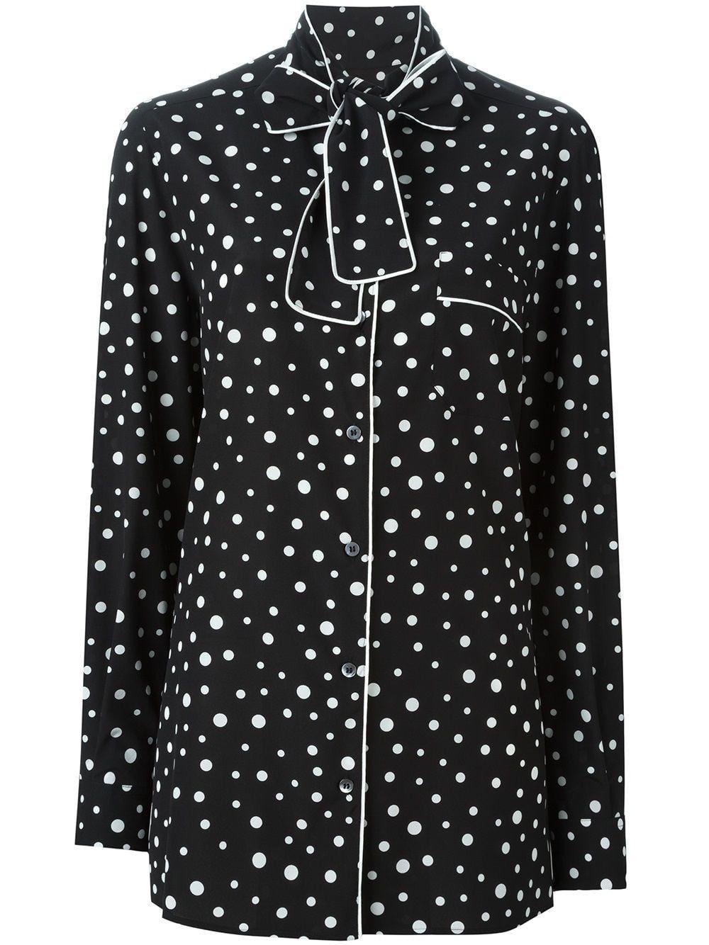 449a4f9d0f Dolce & Gabbana polka dot print pyjama shirt - Black | Products in ...