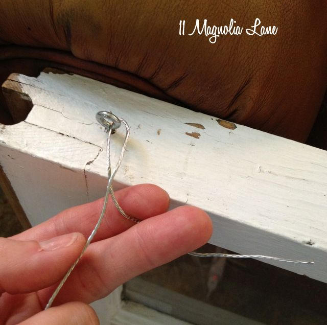 Tutorial How To Hang A Vintage Window For Wall Display 11 Magnolia Lane Vintage Windows Old Window Decor Window Crafts