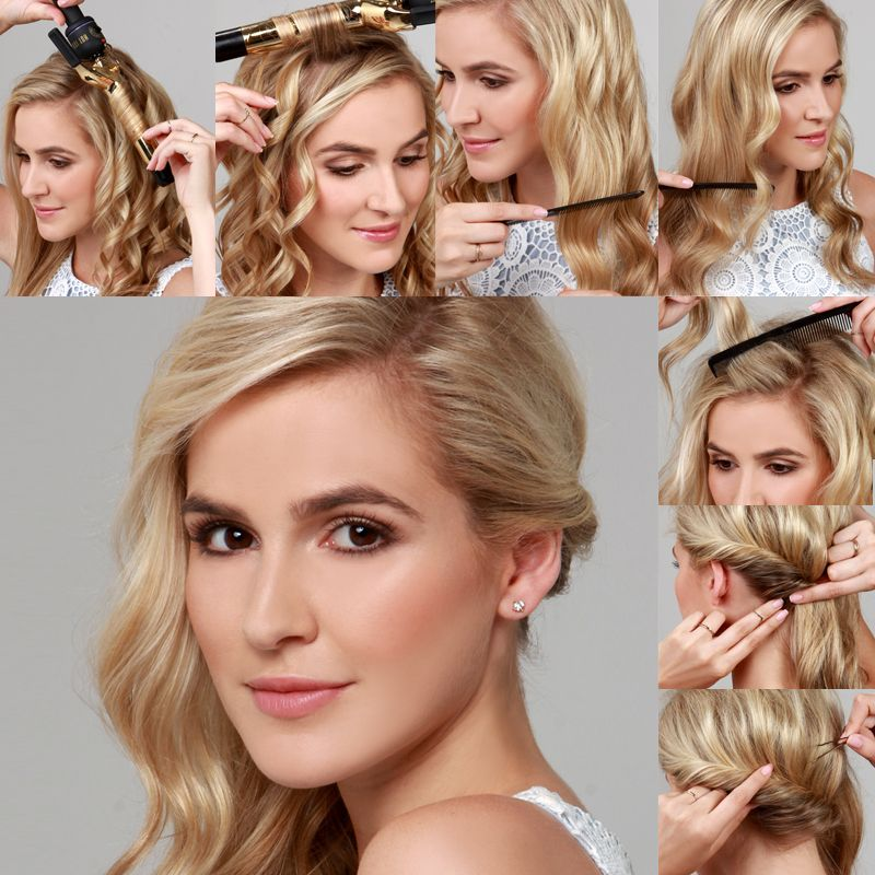 Curls To One Side Wedding Hairstyles: Lulus How-To: Side Swept Curls Hair Tutorial