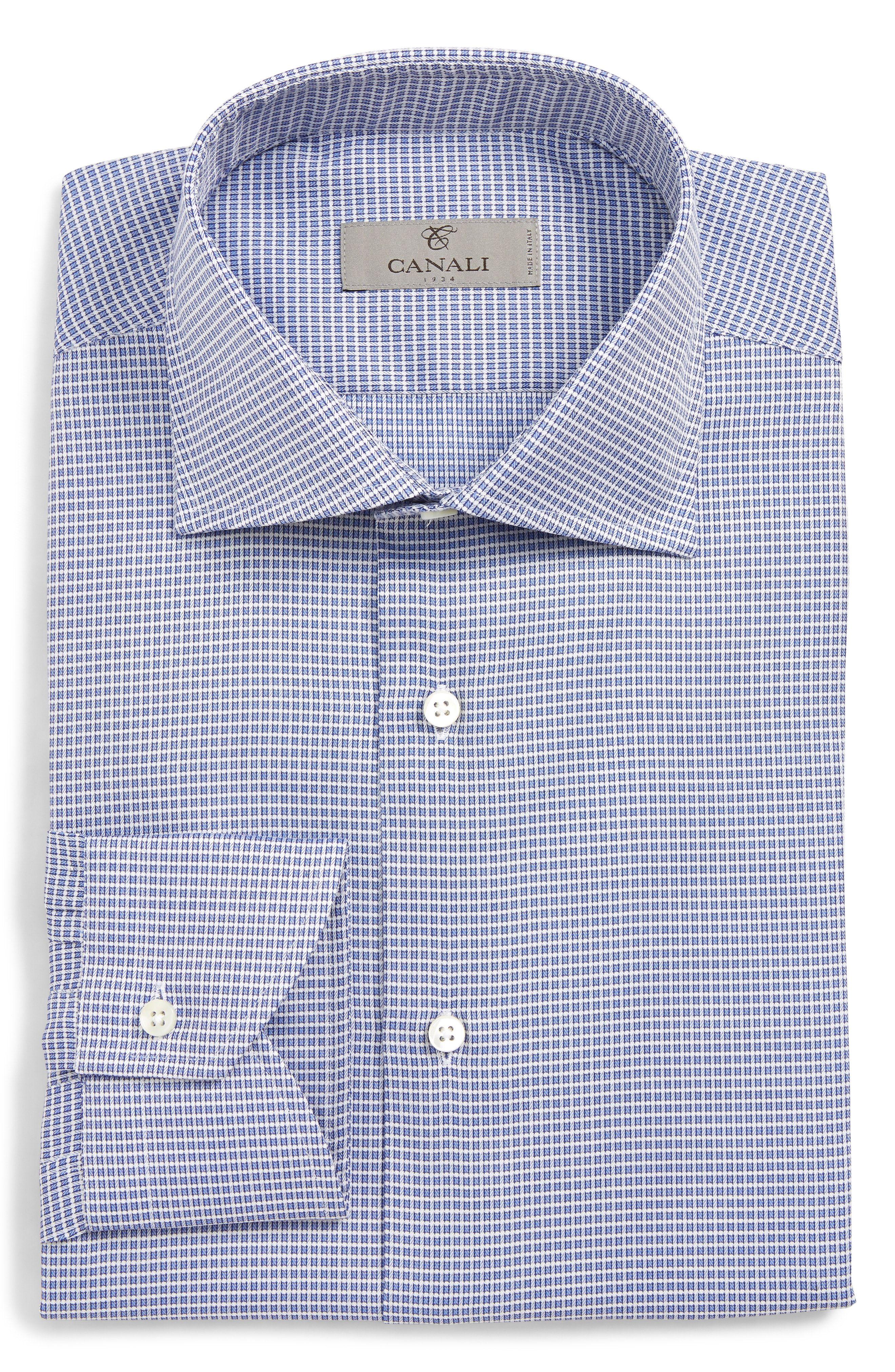 1d2e7654a25 CANALI REGULAR FIT CHECK DRESS SHIRT.  canali  cloth