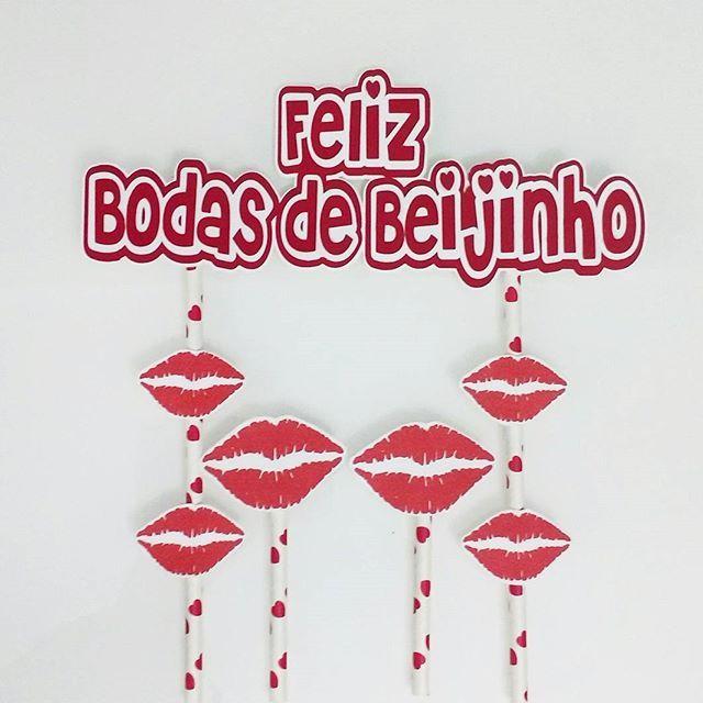 Topo De Bolo Para As Bodas De Beijinho Em Comemoracao De 1 Mes De