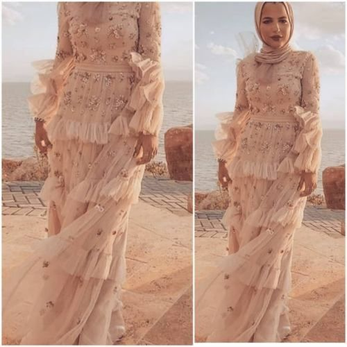 Evening Hijab Dresses for girls -   12 dress Hijab evening ideas