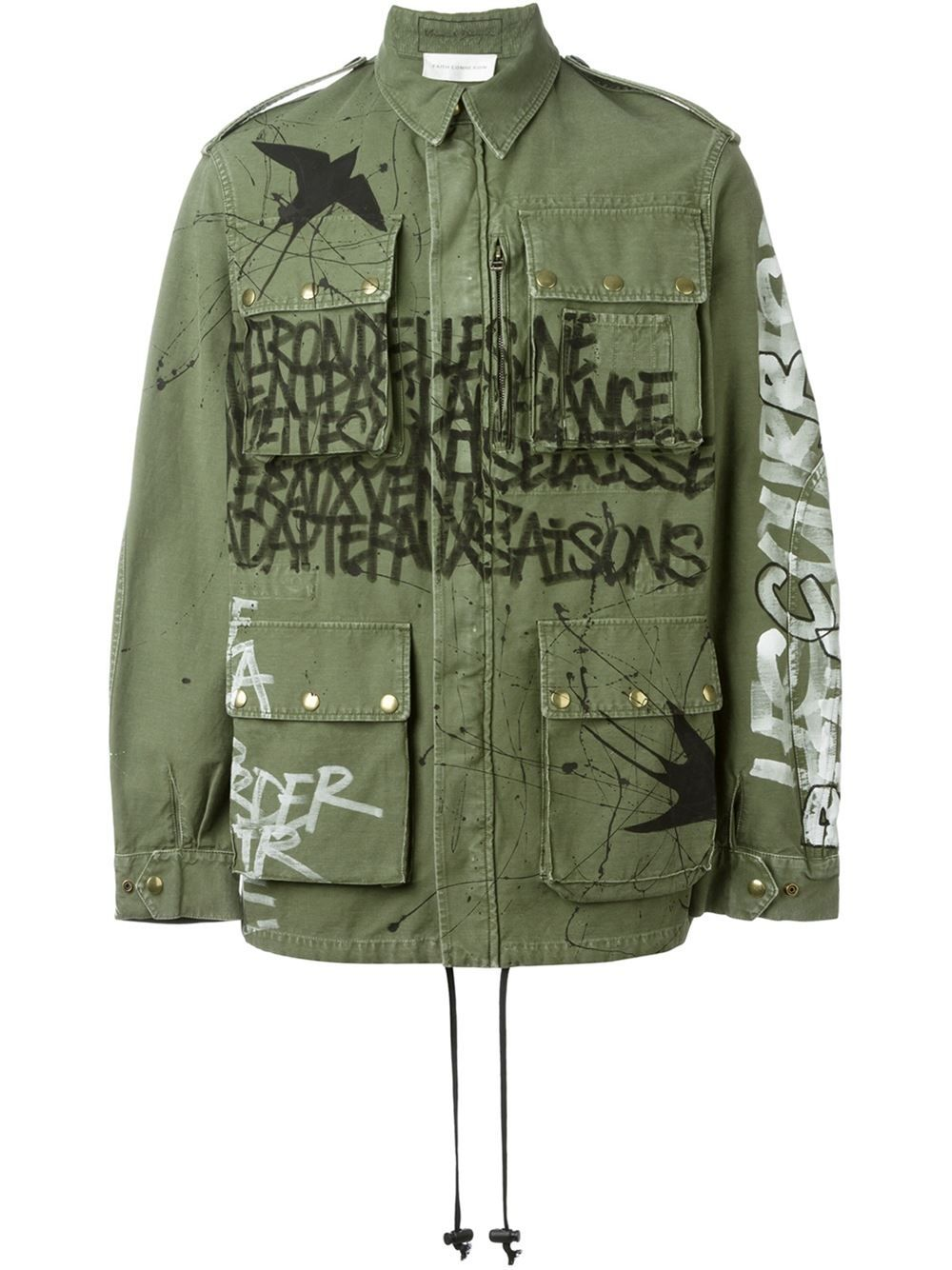 Faith Connexion graffiti print cargo jacket