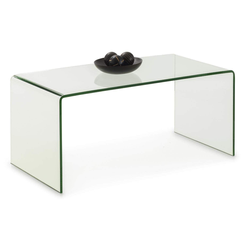 Julian Bowen Amalfi Bent Glass Coffee Table Lounge