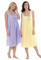 30d4c16de29 Only Necessities Plus Size 2-pack sleeveless tricot night gown ...