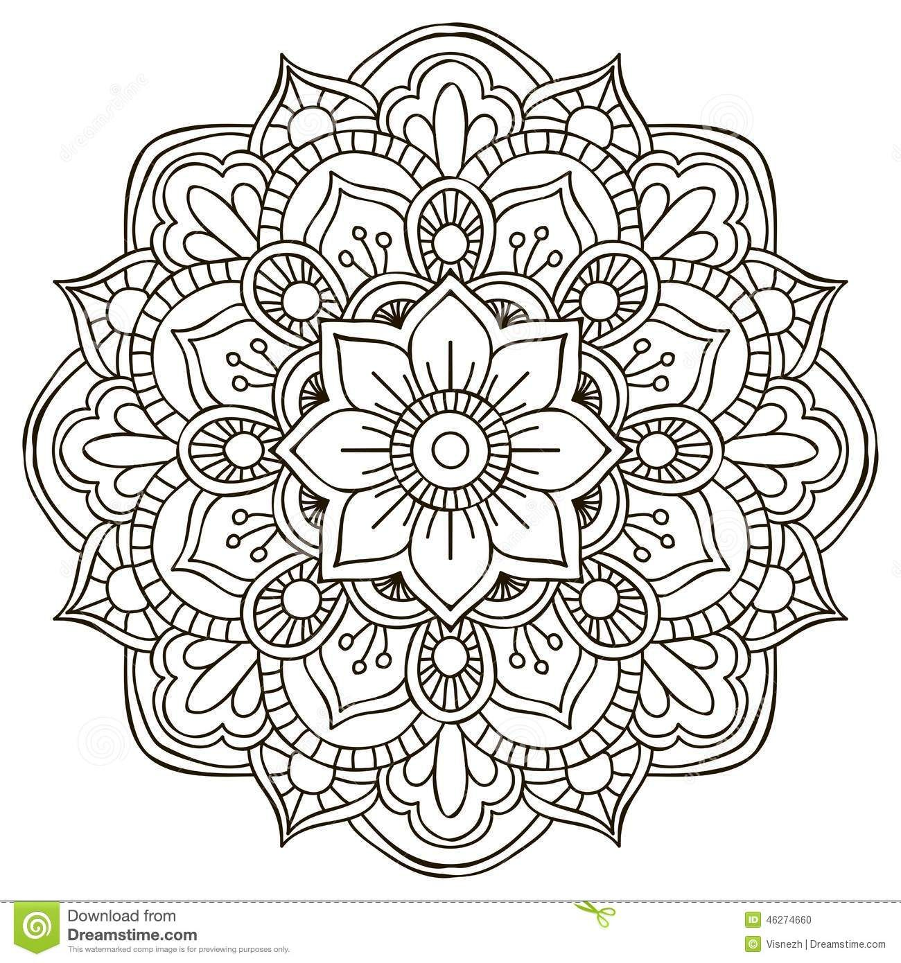 Mandala. Round Ornament - Download From Over 46 Million ...