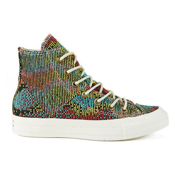 09581a7d5712 The women s Chuck Taylor All Star  Woven Multi Panel  trainers from Converse  feature a multi-coloured
