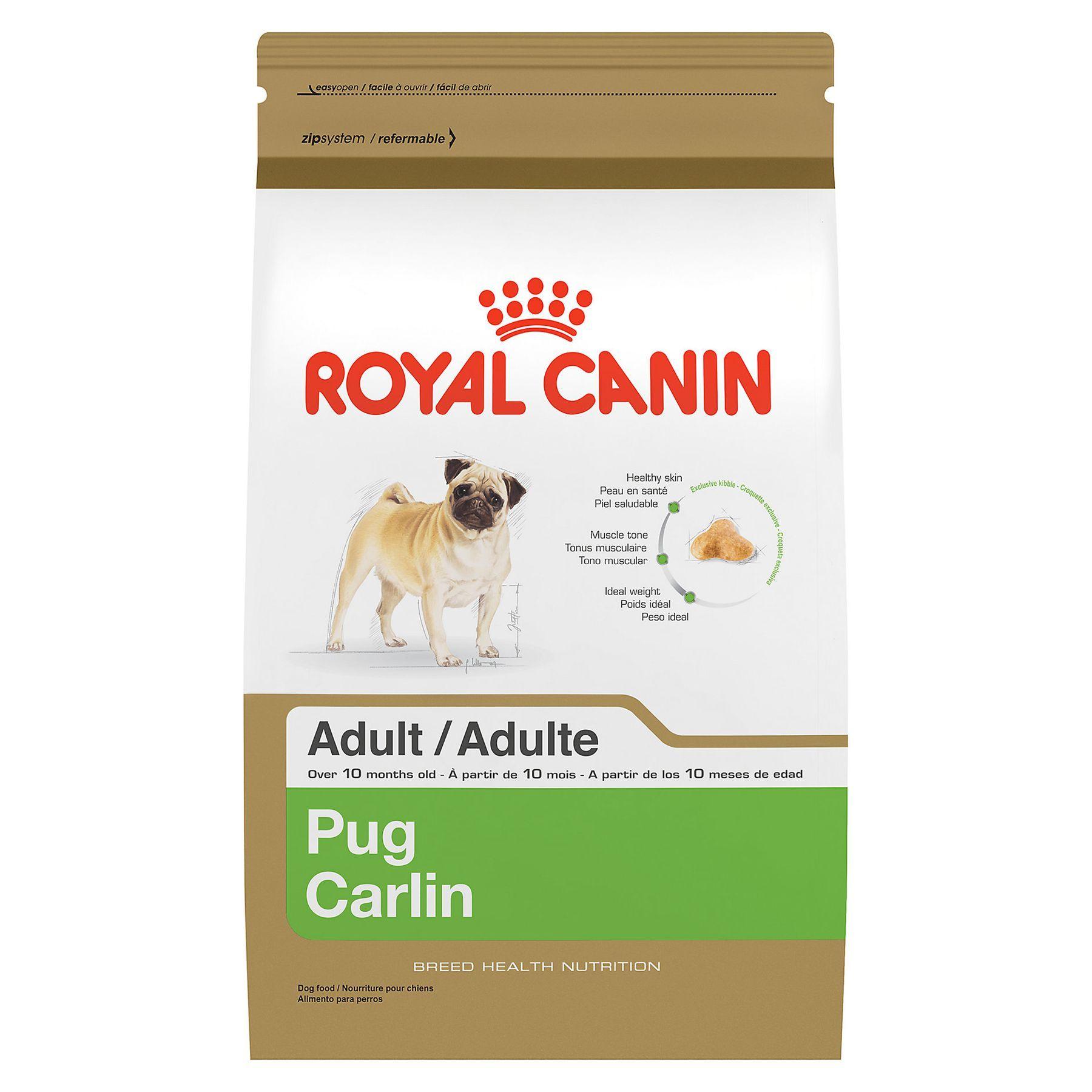 Royal Canin Breed Health Nutrition Pug Adult Dog Food Size 2 5
