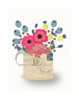 Sunday Morning Sudio: Flowers in Cups & Mugs