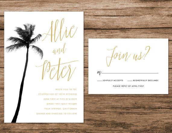 Palm Tree Wedding Invitation By Alexanelsonprints Wedding Lust