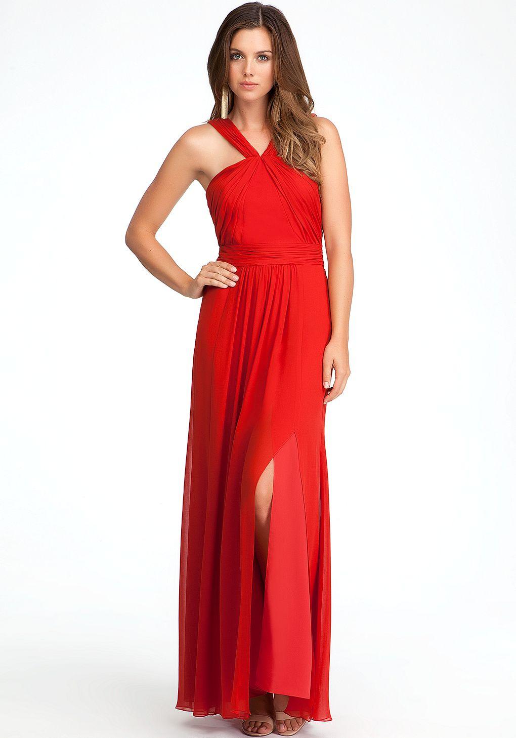 Bebe jennifer cross strap gown dresses evening fashion