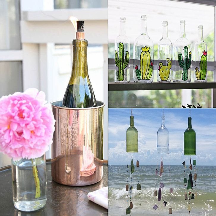 Ways To Decorate Glass Jars: 15 Inspired Ways To Decorate With Empty Wine Bottles