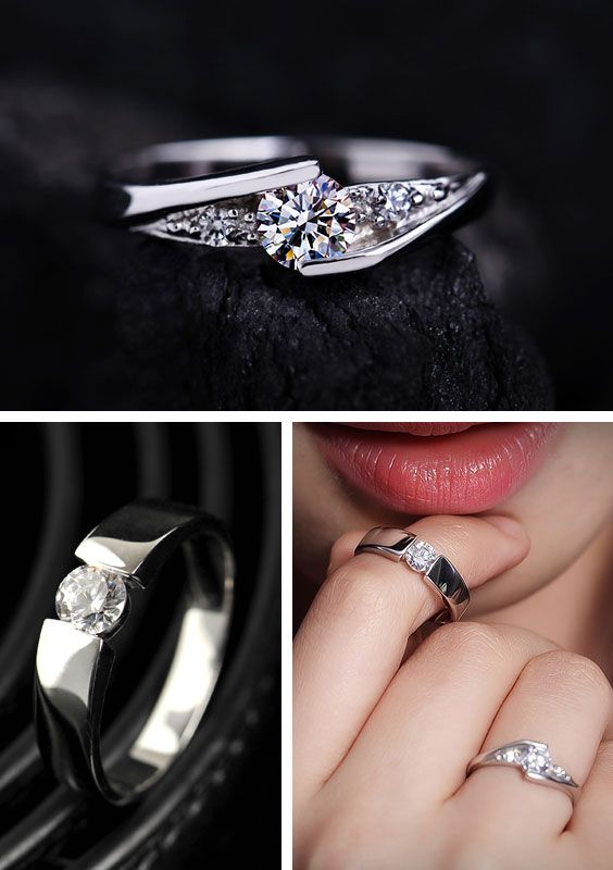cubic zirconia engagement rings for couples - Cheap Sterling Silver Wedding Rings