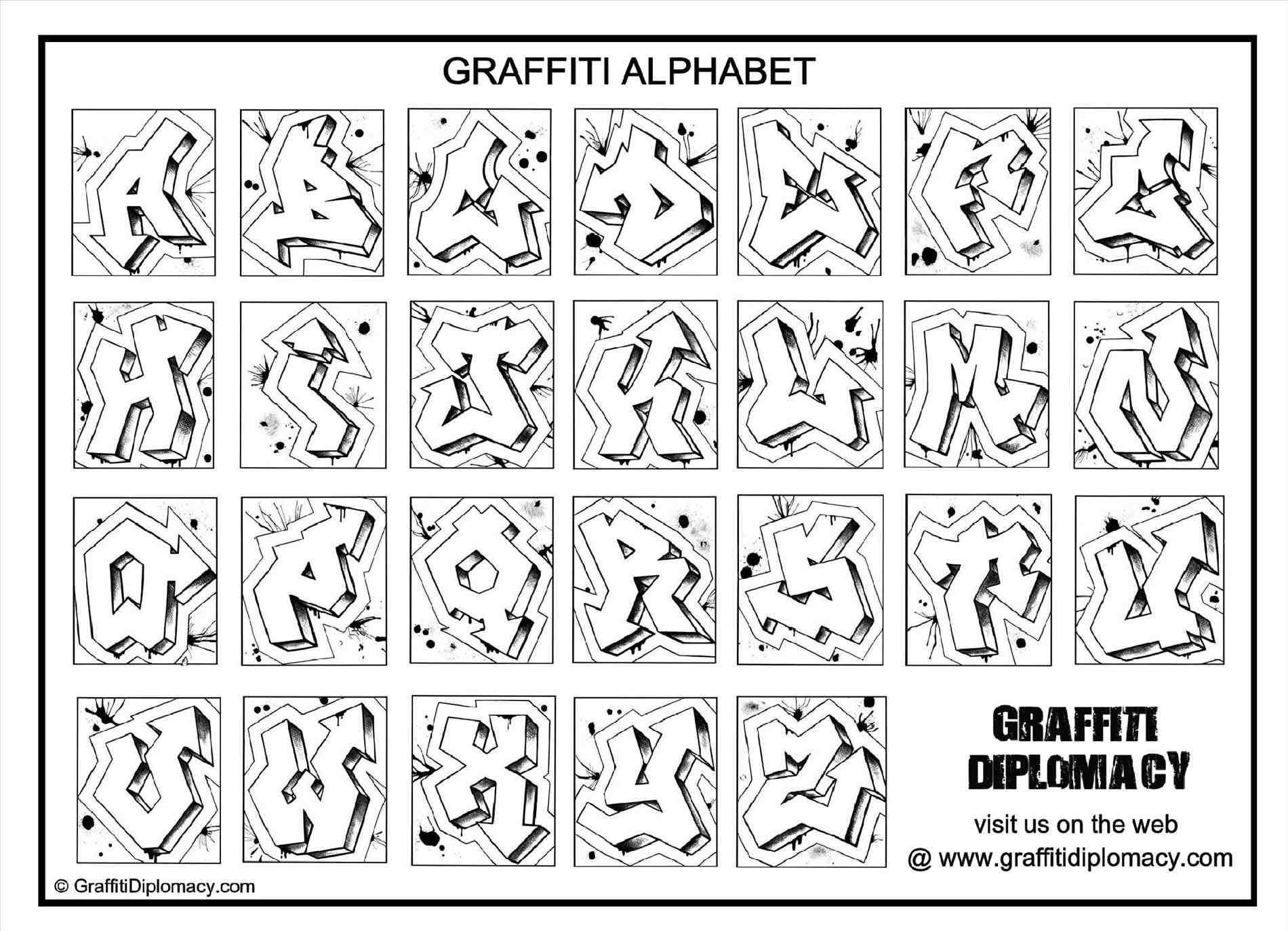 Free How To Draw Graffiti Letters A Z Step By Step