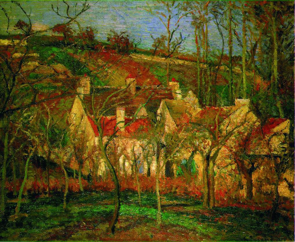 Impressionnisme Camille Pissaro Les Toits Rouges