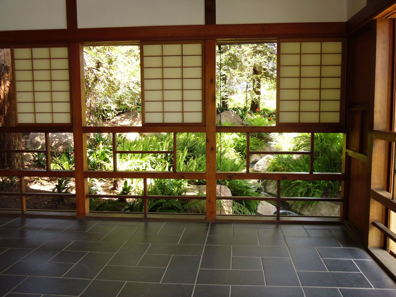 House: Amazing Japanese Home Interior Design With Open Wall And Lucite  Screen Cover And Brick
