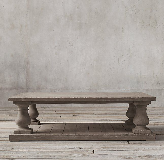 most popular coffee tables | grey wash, restoration hardware and