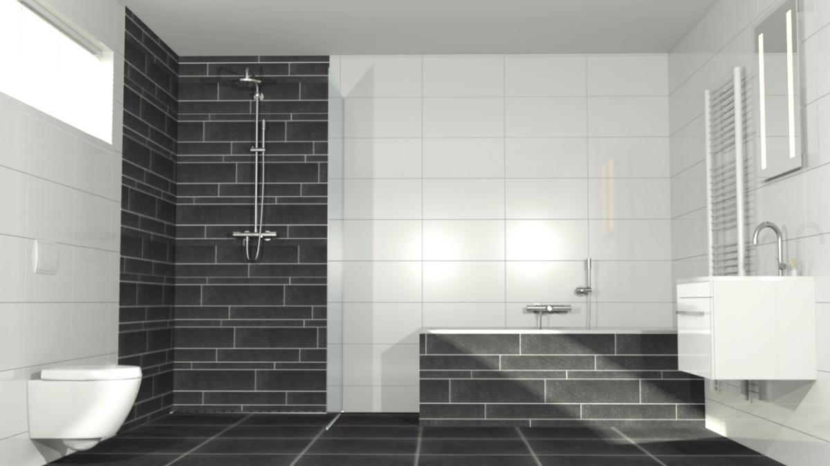 Procasa basics badkamer inspiratie badkamer wc pinterest - Badkamer zwarte vloer ...