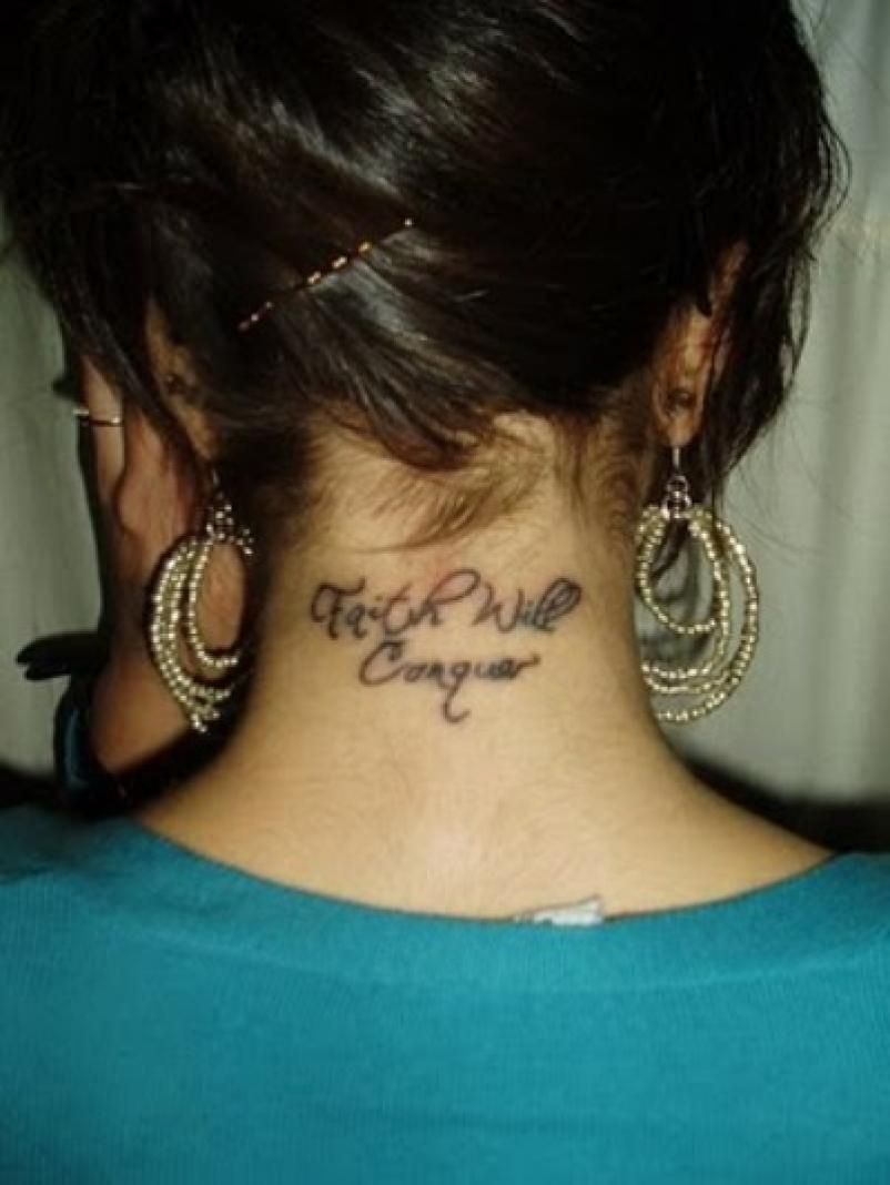 Awesome Girly Back Neck Tattoos Girl Neck Tattoos Neck Tattoo Back Of Neck Tattoo