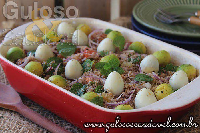 Esta receita de Tabule Vegetariano é deliciosa, saudável, leve e mega fácil de preparar.  #Receita aqui: http://www.gulosoesaudavel.com.br/2016/08/09/tabule-vegetariano/