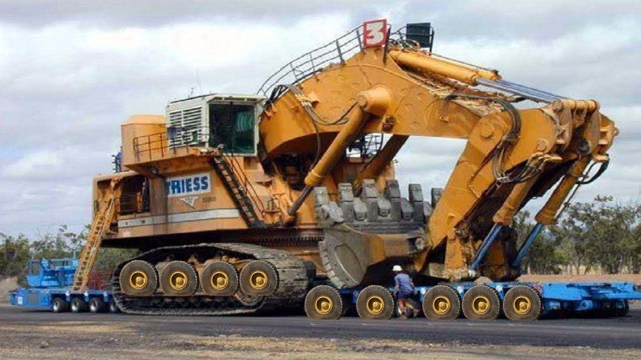 Heavy Equipment Modern Biggest Construction Excavator Working Ultimate Baumaschinen Schwertransport Nutzfahrzeuge