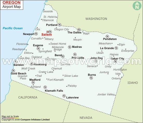 Oregon Cities And Towns Map Oregon Trip Pinterest - Oregon on a map of usa
