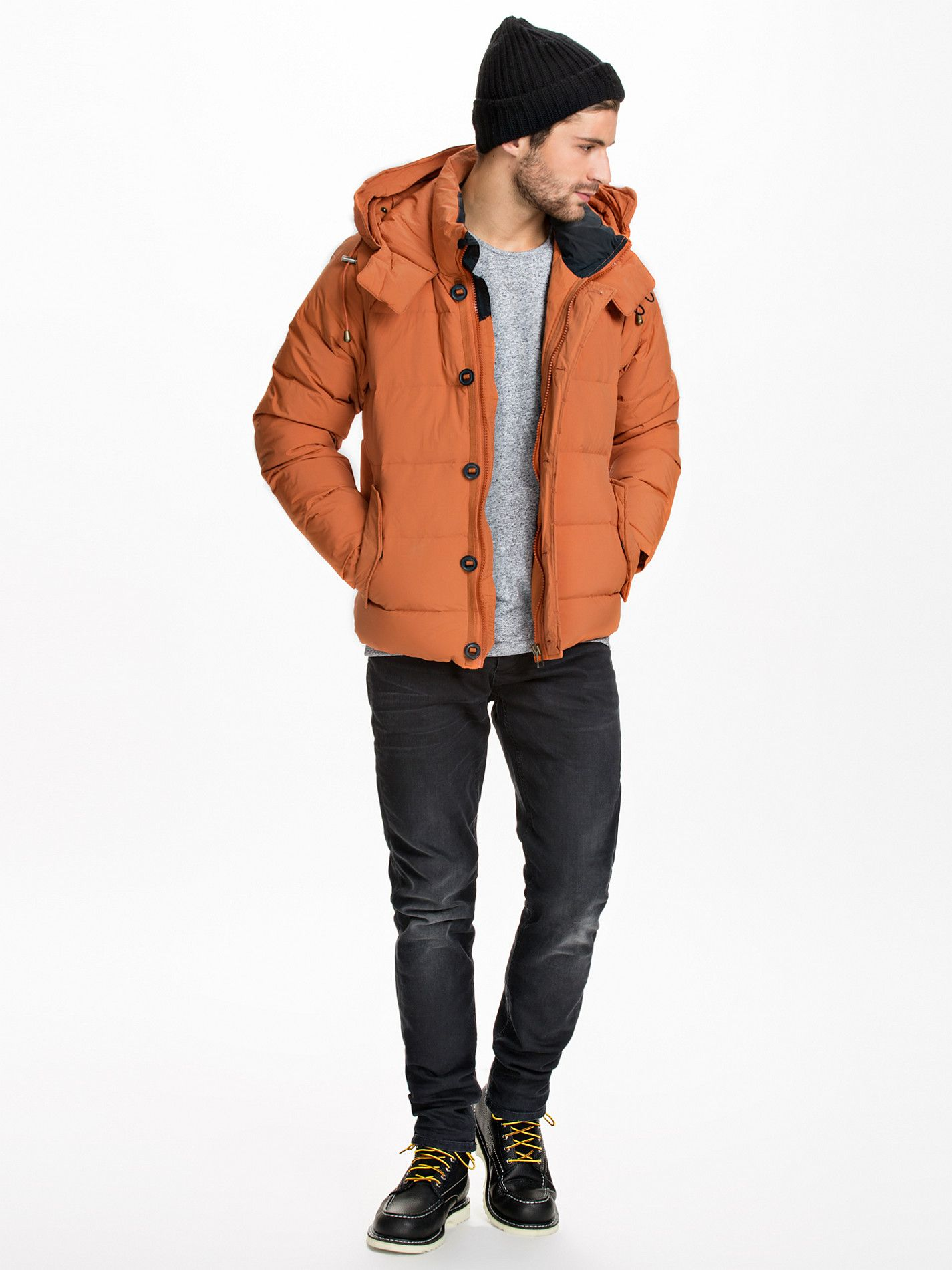 2be63e86 The Iconic Down Jacket - Selected Homme - Rust - Jackets And Coats -  Clothing - Men - NlyMan.com
