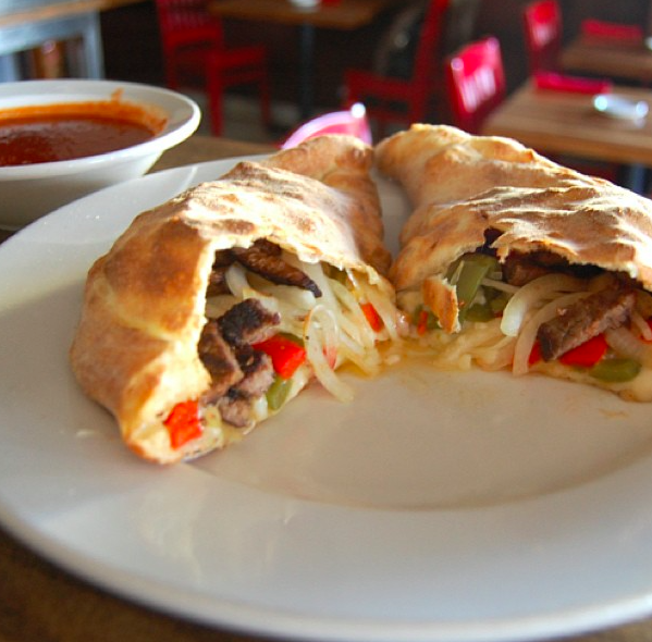 The Steak Bomb Calzone - Grilled Steak, Roasted Peppers ...