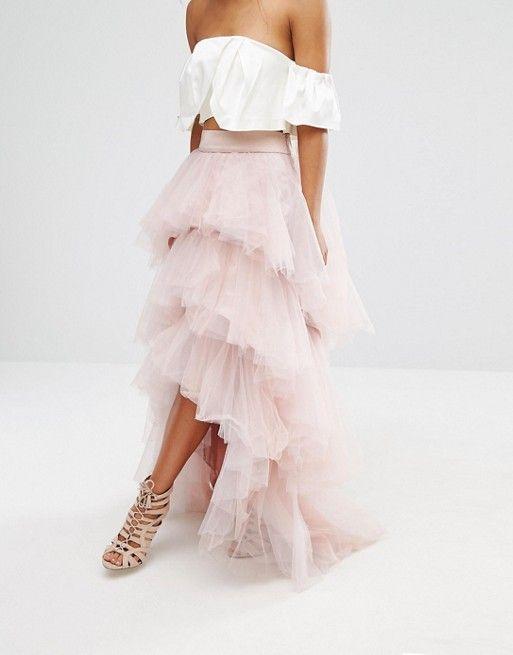 c46fee8aa Chi Chi London Petite Tulle Maxi Skirt | gowns n dresses ...