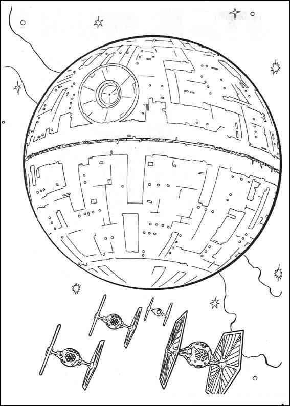 Raumschiffe 1 Zeichnen Ausmalbilder Star Wars Und Todesstern